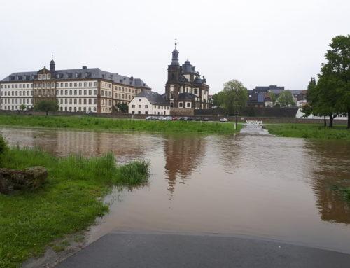 Hochwasser an der Alme