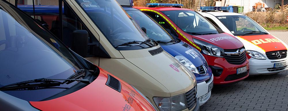 Bürener Hilfsorganisationen Fahrzeuge