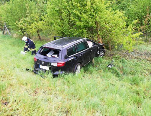 Steinhausen: Autounfall auf der Autobahn