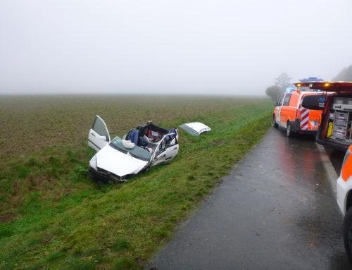 Büren: Verkehrsunfall mit eingeklemmter Person
