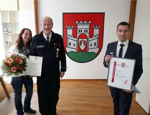 Stadtbrandinspektor Andreas Müller als Leiter der Freiwilligen Feuerwehr in Büren verabschiedet