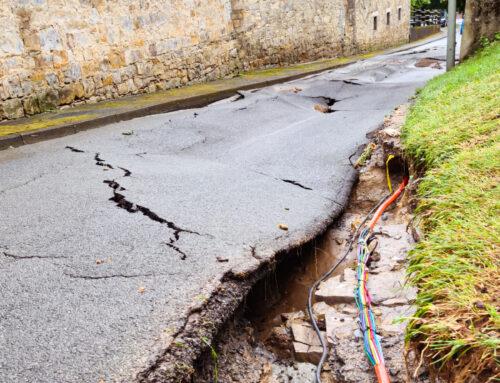 Barkhausen: Straße unter Wasser
