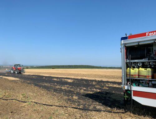 Brenken: Flammenschein auf Feld