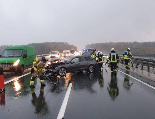 BAB 44: Absicherung nach Verkehrsunfall